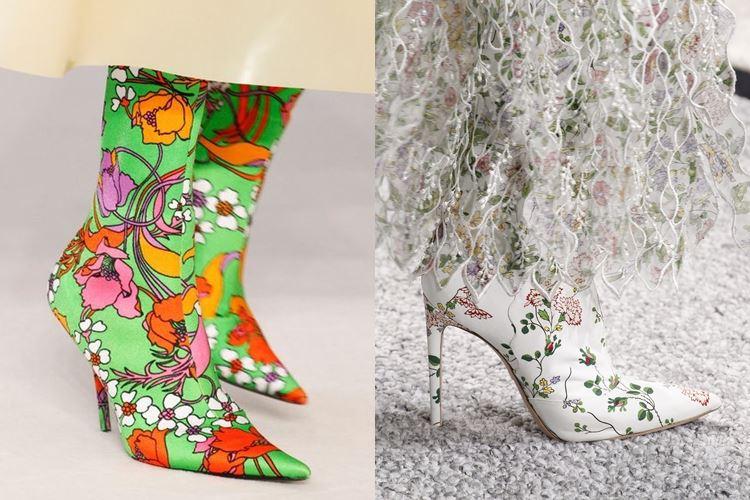 Модная женская обувь весна-лето 2017: цветочный принт