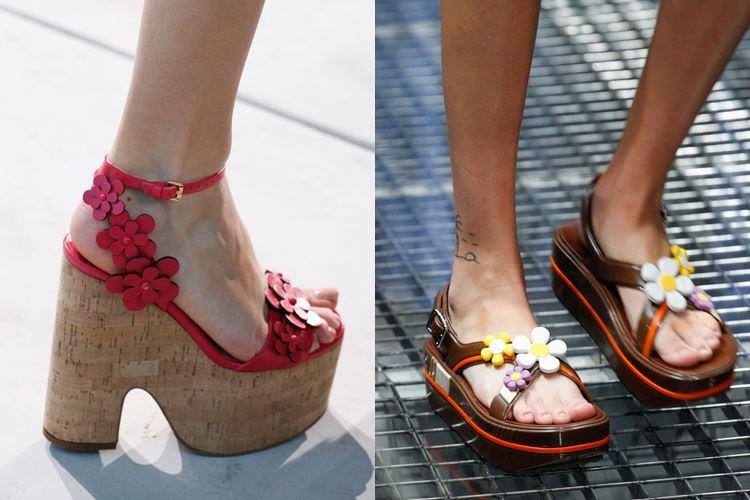 Модная женская обувь весна-лето 2017: цветочный декор