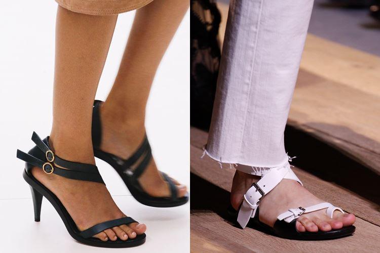 Модная женская обувь весна-лето 2017: босоножки с ремешками