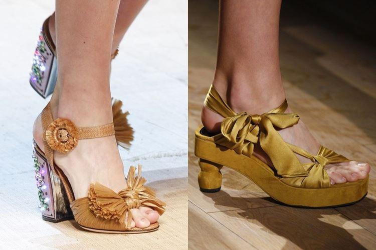 Модная женская обувь весна-лето 2017: туфли с бантами