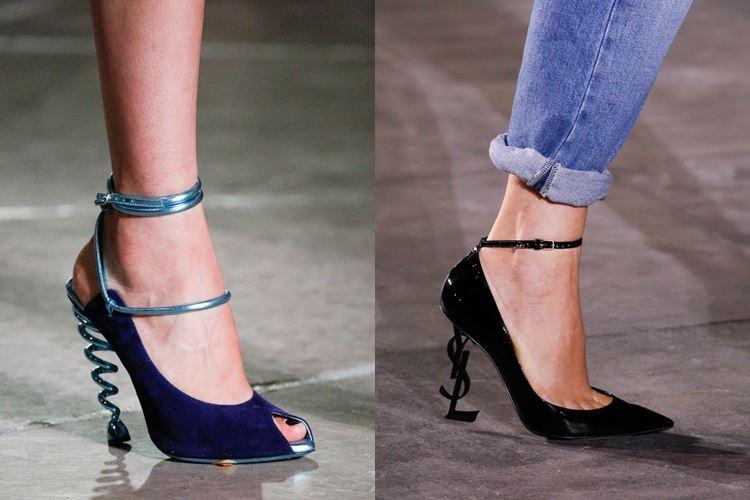 Модная женская обувь весна-лето 2017: оригинальная шпилька