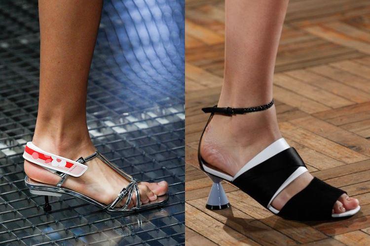 Модная женская обувь весна-лето 2017: необычный низкий каблук