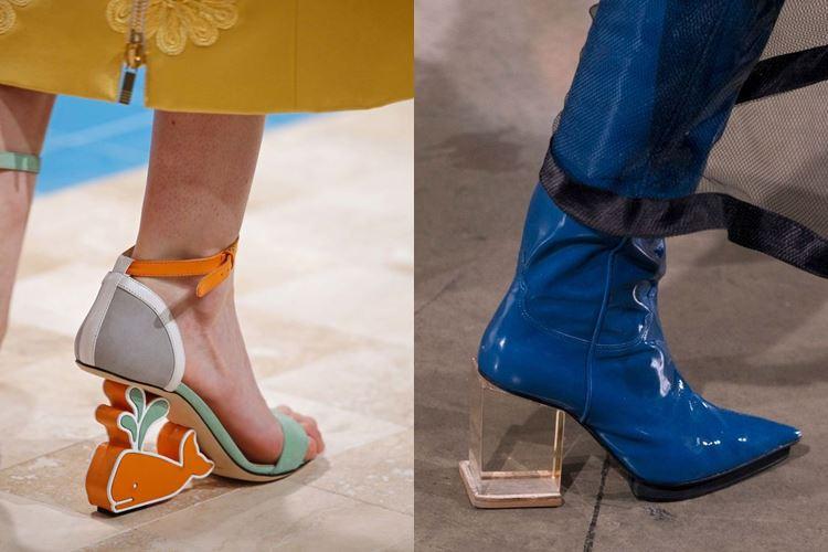 Модная женская обувь весна-лето 2017: оригинальный толстый каблук
