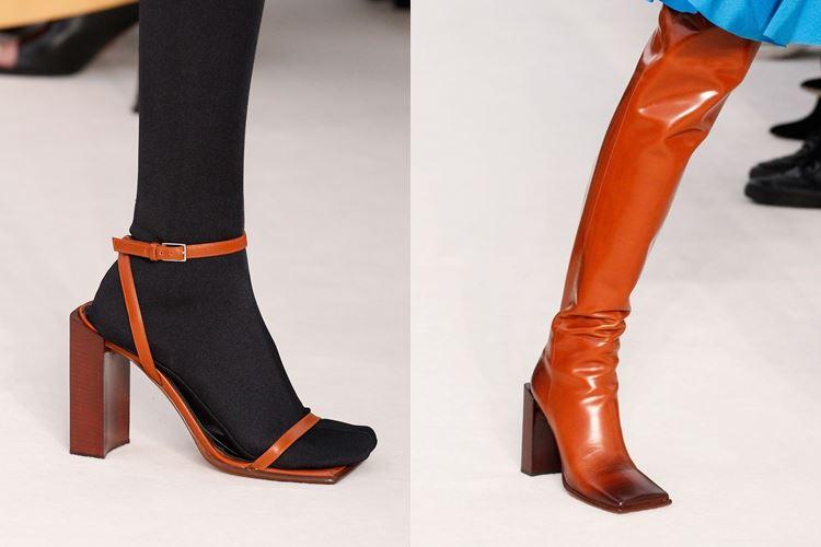 Модная женская обувь весна-лето 2017: квадратный носок