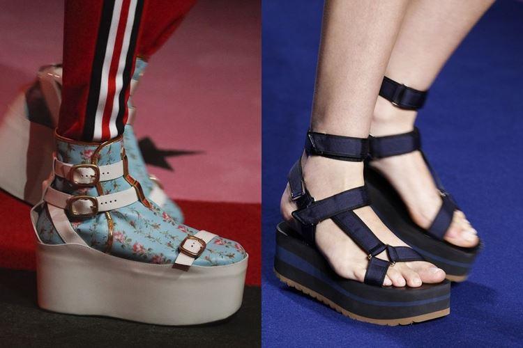 Модная женская обувь весна-лето 2017: сабо на платформе