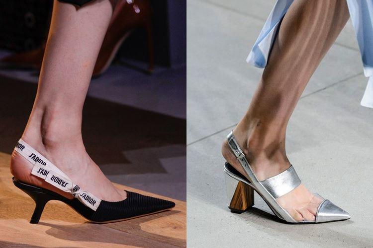 Модная женская обувь весна-лето 2017: острый мысок низкий каблук