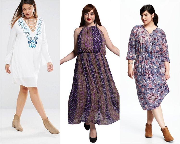 Платья туники для полных