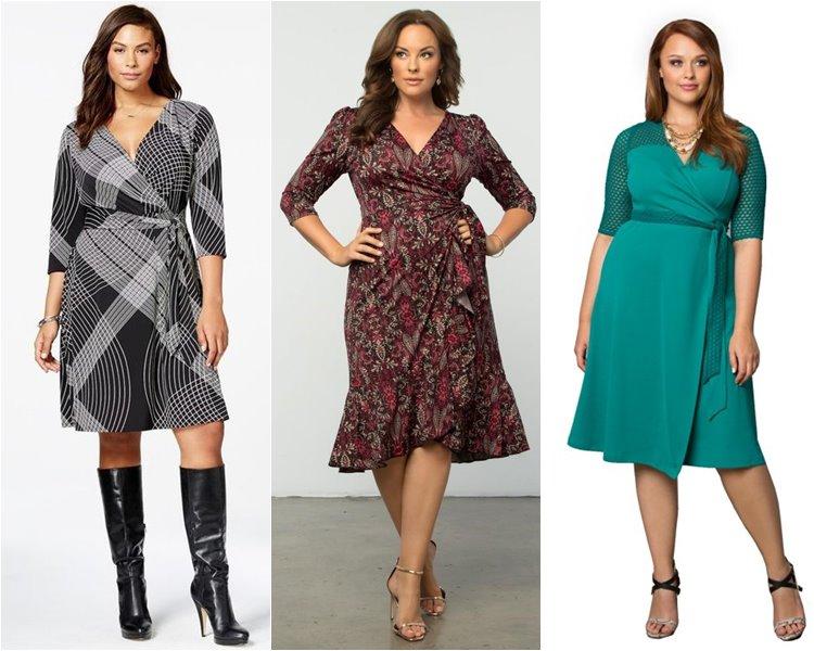 Модели платьев для полных женщин с 2017