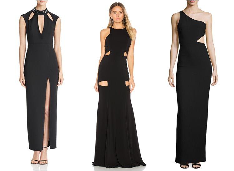 Модные вечерние платья 2017: прорези