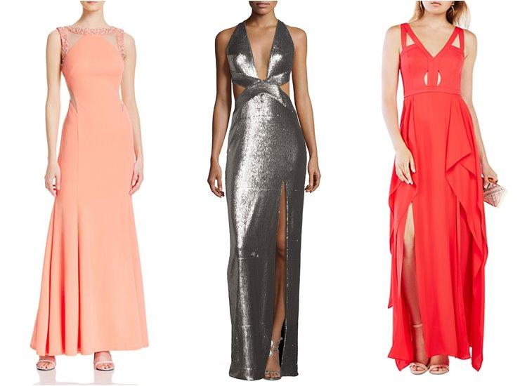 Модные вечерние платья 2017: вырезы