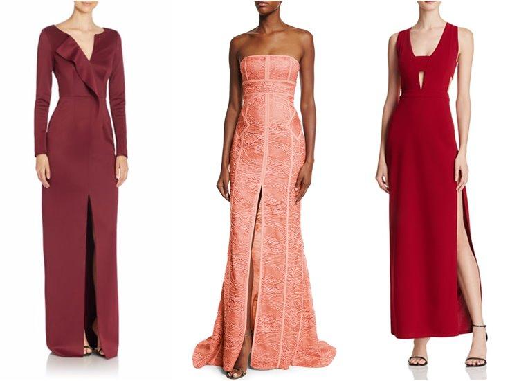 Модные вечерние платья 2017: передний разрез