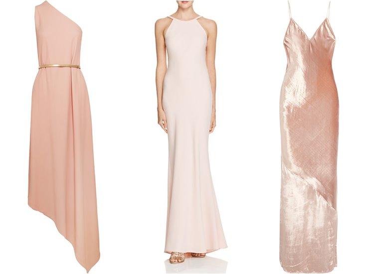 Модные вечерние платья 2017: пастельные минималистичные
