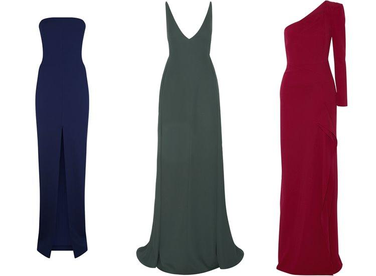 Модные вечерние платья 2017: тёмные простые элегантные