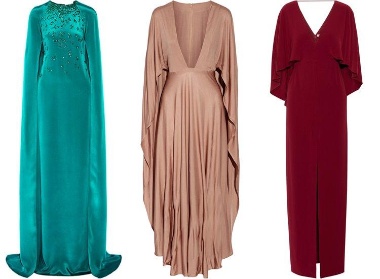 Модные вечерние платья 2017: накидки-кейпы