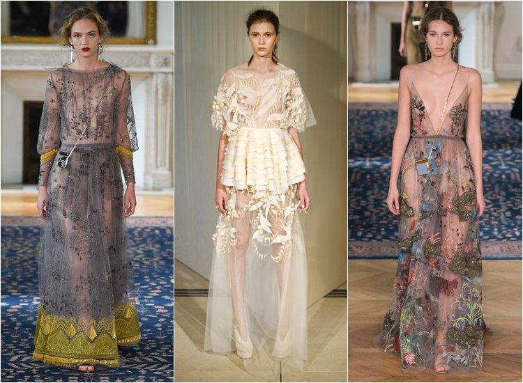 Модные вечерние платья 2017: полупрозрачные ткани