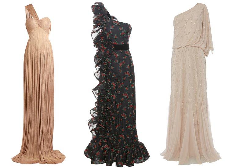 Модные вечерние платья 2017: на одно плечо