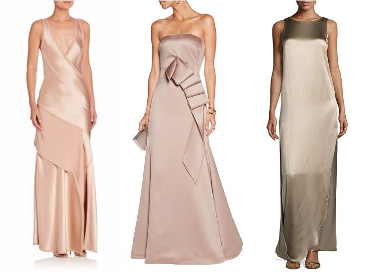 Модные вечерние платья 2017: атласные