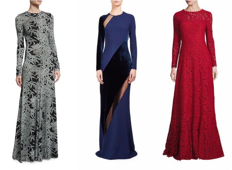 Модные вечерние платья 2017: элегантные с длинным рукавом