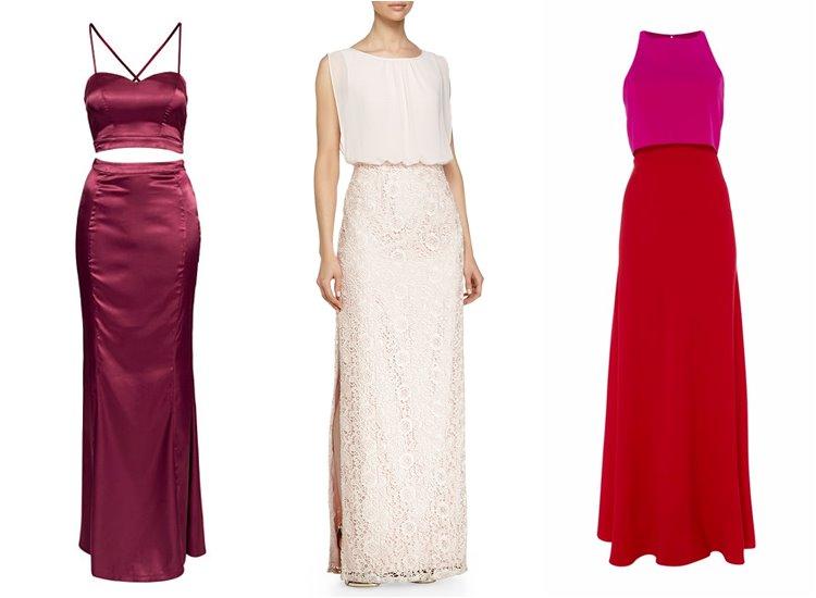 Модные вечерние платья 2017: топ с юбкой
