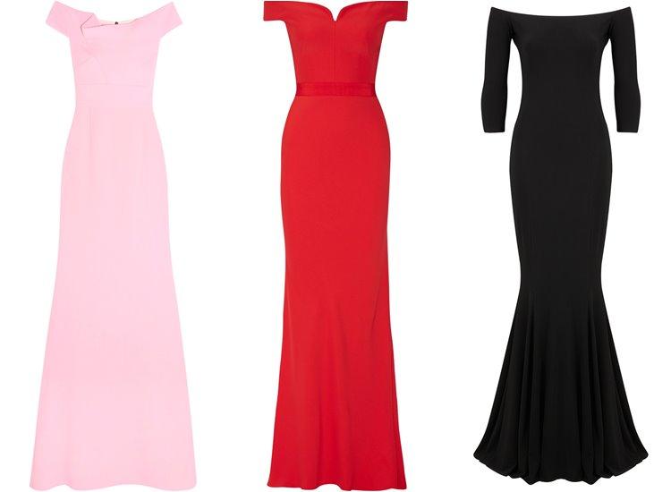 Модные вечерние платья 2017: открытое декольте