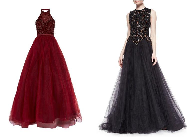 Модные вечерние платья 2017: пышная юбка из тюля