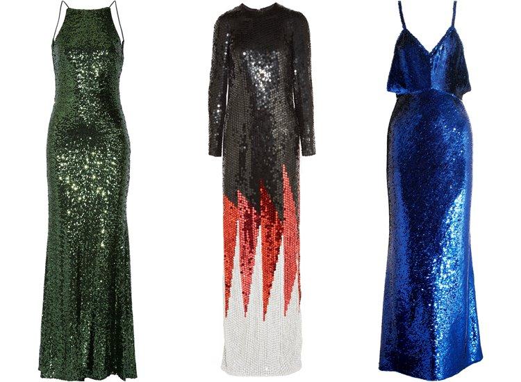 Модные вечерние платья 2017: с пайетками