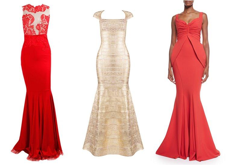Модные вечерние платья 2017: стиль русалка