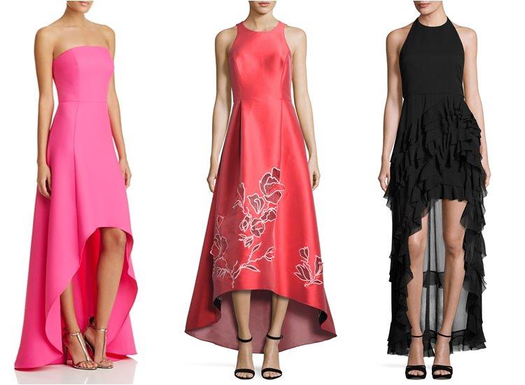 Модные вечерние платья 2017: хай лоу