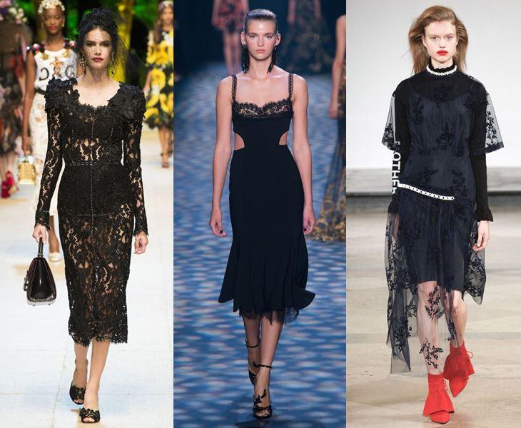 517ee295fda ... Zimmermann Женская одежда весна-лето 2017  чёрные кружевные платья
