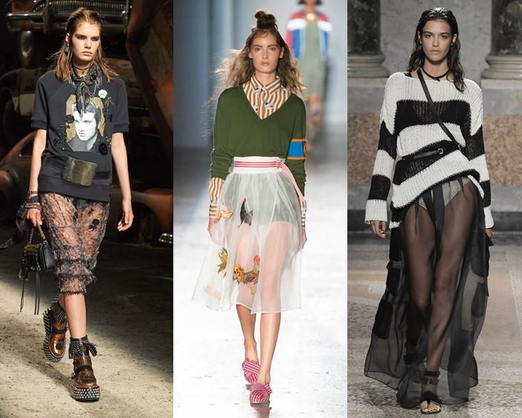 Модные юбки весна-лето 2017:  прозрачные