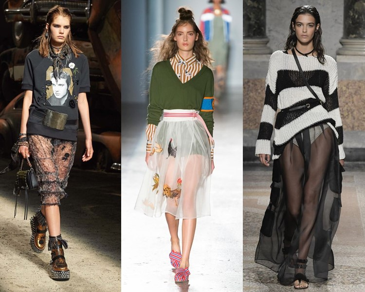 Мода прозрачных юбок