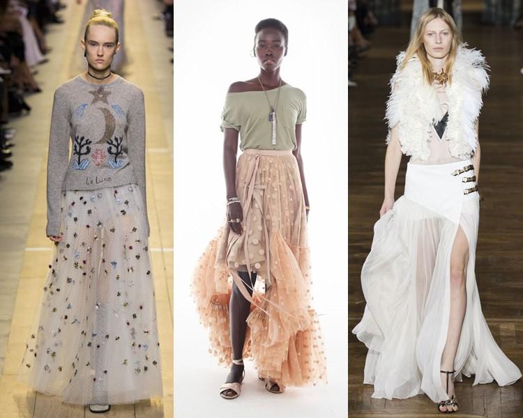 Модные юбки весна-лето 2017: тюлевые воздушные прозрачные