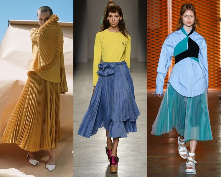 Модные юбки весна-лето 2017: яркие плиссированные миди