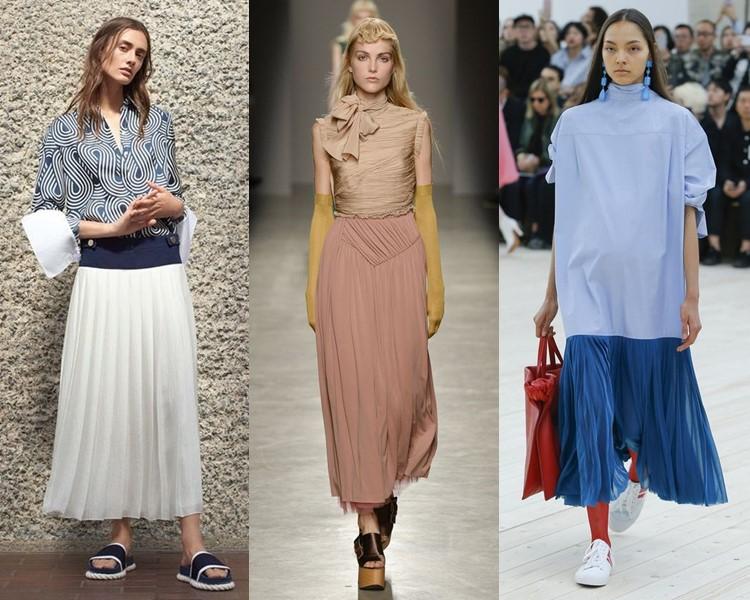 Модные юбки весна-лето 2017: плиссированные длинные