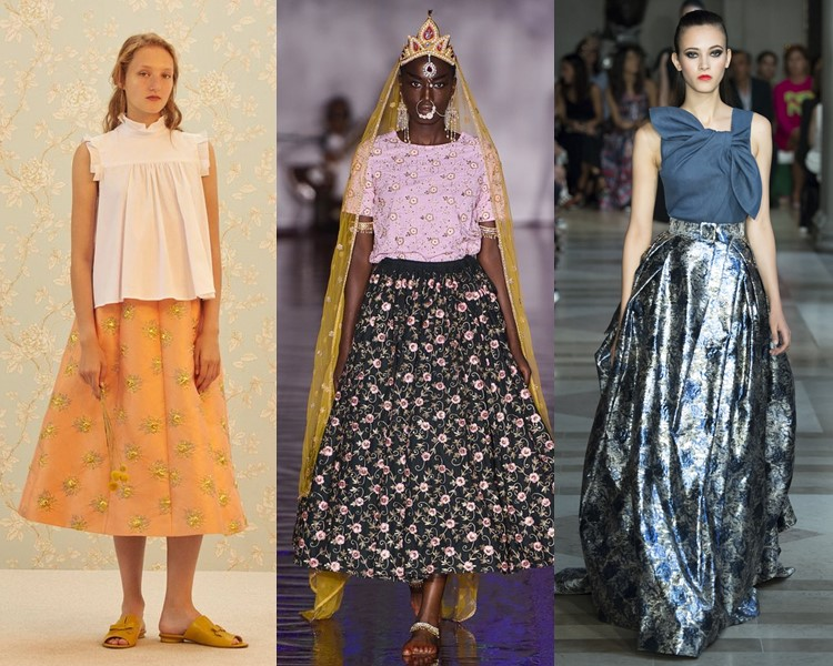 Модные юбки весна-лето 2017: цветочный декор