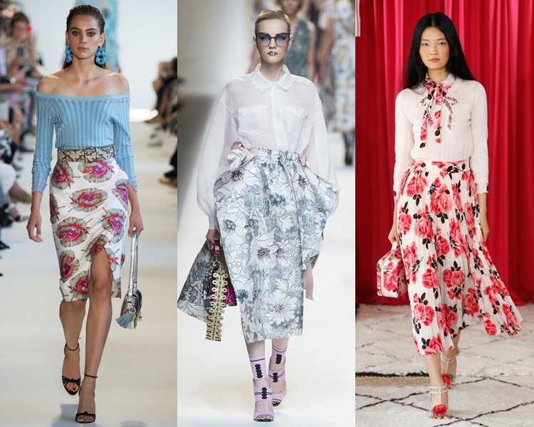 Модные юбки весна-лето 2017: цветочный принт