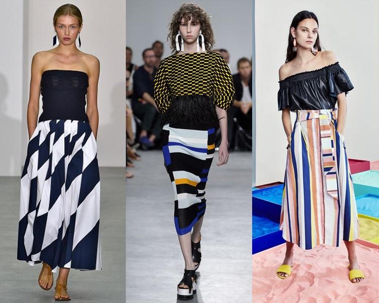 Модные юбки весна-лето 2017:  яркие в полоску