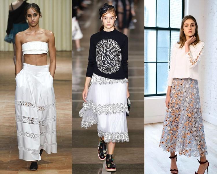 Модные юбки весна-лето 2017: кружевные