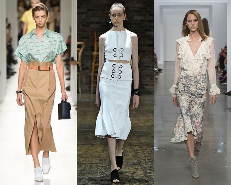 Модные юбки весна-лето 2017: русалка или годе