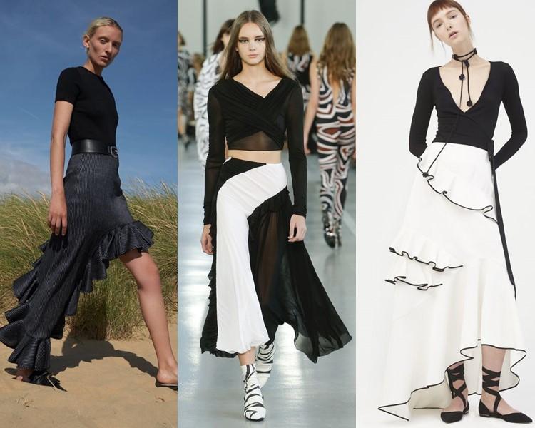 Модные юбки весна-лето 2017:  авангардные асимметричные