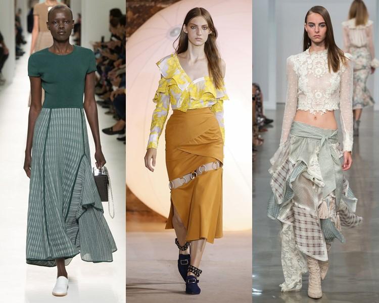 Модные юбки весна-лето 2017:  сложные асимметричные