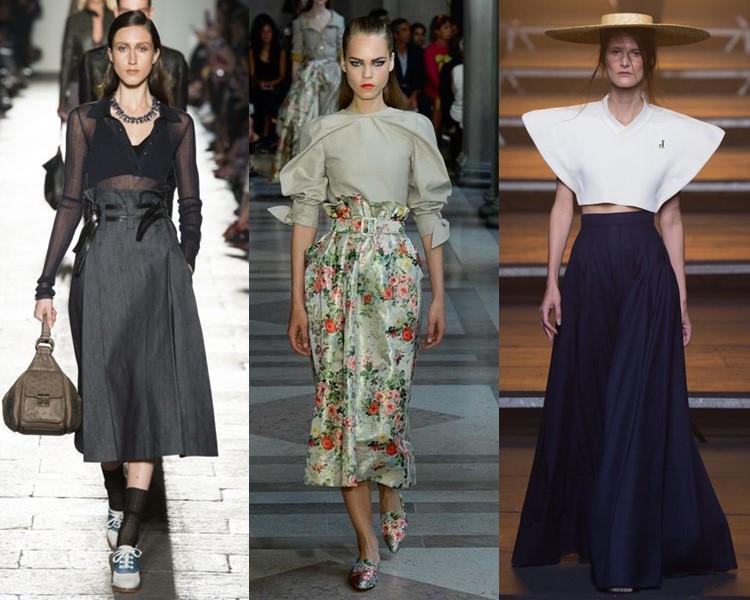 Модные юбки весна-лето 2017: завышенная талия