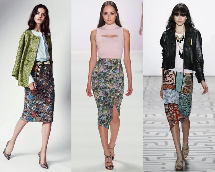 Модные юбки весна-лето 2017: карандаш ниже колена