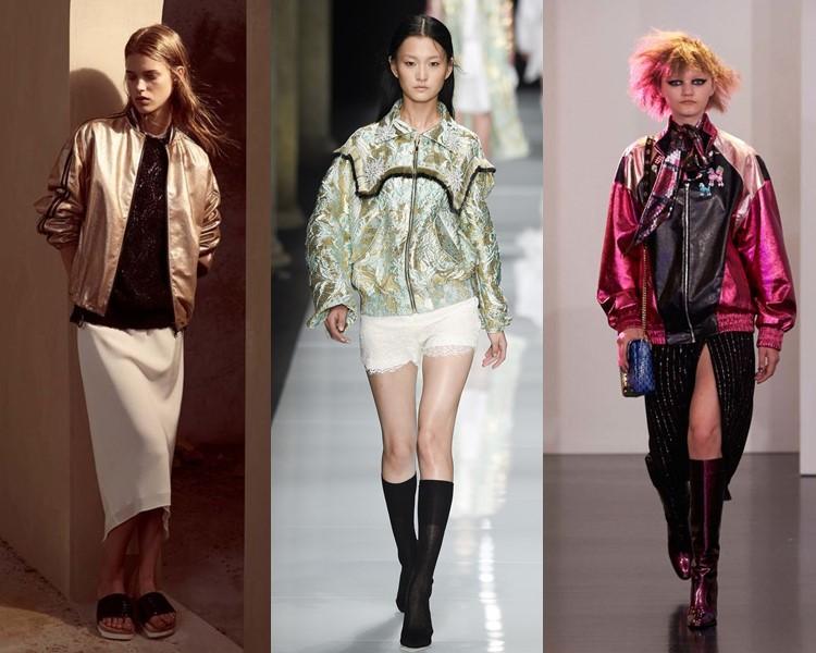 блестящие куртки весна-лето 2017