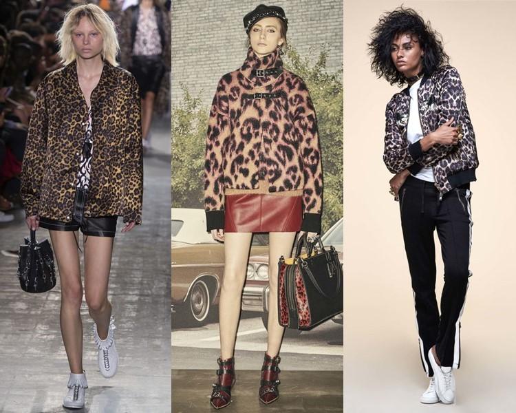 куртки с леопардовым принтом весна-лето 2017