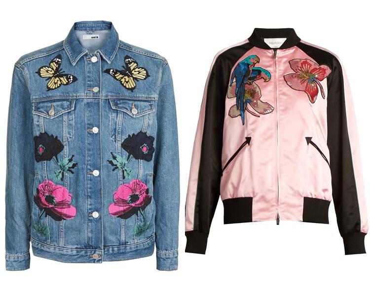 куртки с аппликациями весна-лето 2017