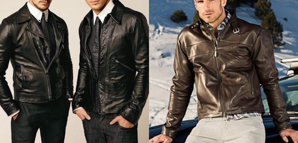 Мужские кожаные куртки 2017