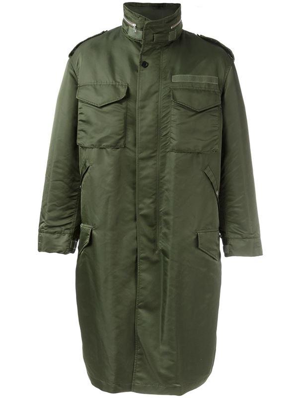 длинное мужское пальто парка хаки