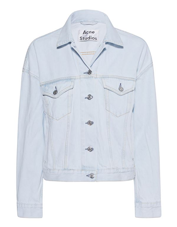 светло голубая джинсовая куртка