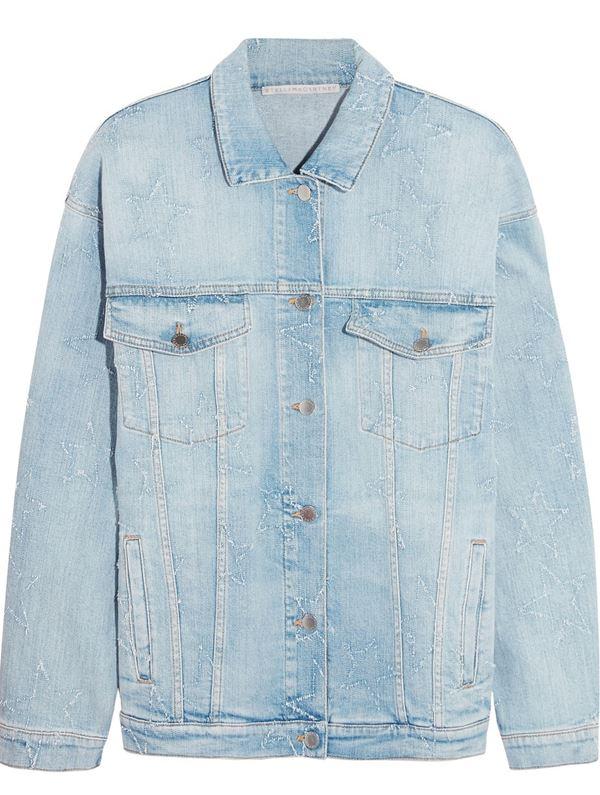 джинсовая куртка оверсайз со звездами в стиле 90-х